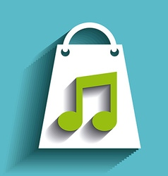Shopping music design vector