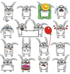Smiley rabbits vector