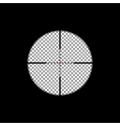 Sniper scope overlay vector image vector image