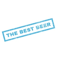 The Best Beer Rubber Stamp vector image vector image
