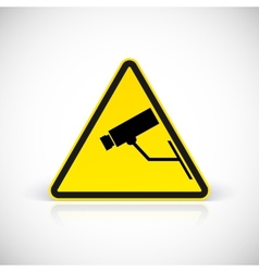 Video surveillance symbol vector image vector image