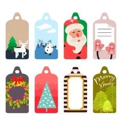 Christmas gift tag set vector