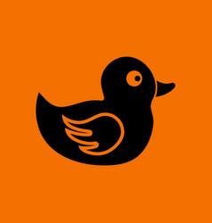 Bath duck icon vector