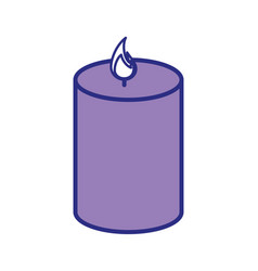 Spa candles aromatherapy vector