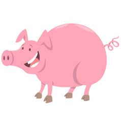 funny pig farm animal character vector image