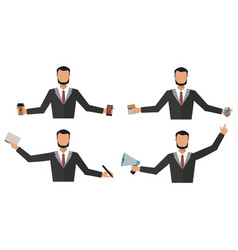 Business man office job stress work vector