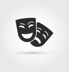 happy and sad masks vector image