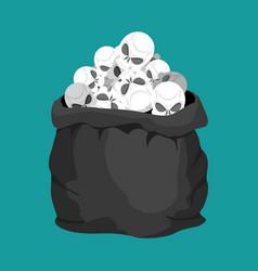Skulls sack death bag sackful skeleton head vector