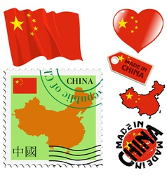 National colours of china vector