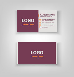 Modern business card template design vector