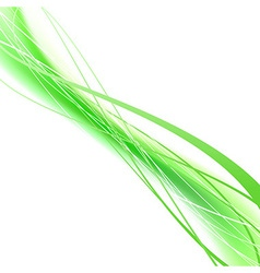 Green eco swoosh lines folder concept vector