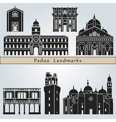 Padua landmarks and monuments vector
