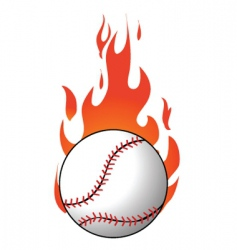 Flaming baseball vector