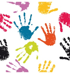 Hand prints seamless vector