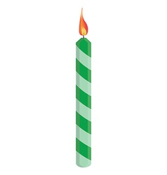 Green birthday candle vector