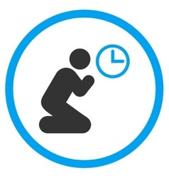 Pray time circled icon vector