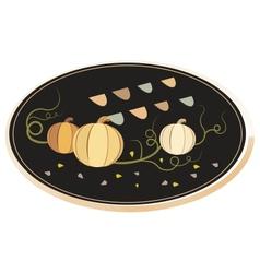 Vintage frame with pumpkins vector