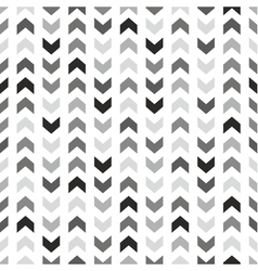 Tile pattern with grey and black arrows on white vector