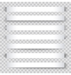 Blank sheet of paper with page curl and shadow vector image