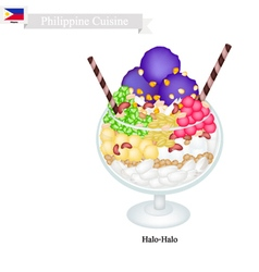 Halo halo or filipino shaved ice vector