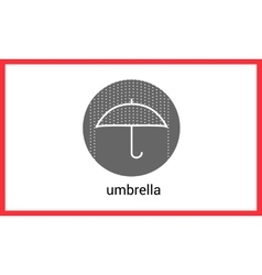 Umbrella contour outline icon vector