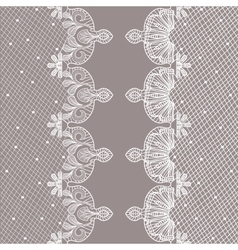 Vertical ornamental seamless pattern lace vector