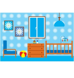 Child room for the newborn vector image
