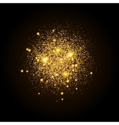 Gold shiny particles shape sparkling background vector