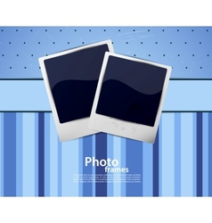 Background with photo frames vector