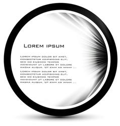 abstract circle black curve vector image