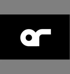 Ar a r black white bold joint letter logo vector