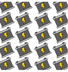 battery repair service garage seamless pattern vector image