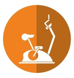 Bike static machine fitness gym shadow vector