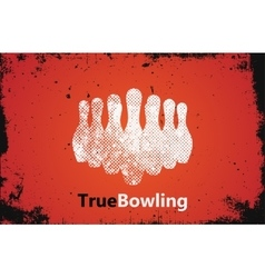 Bowling logo design bowling poster design vector