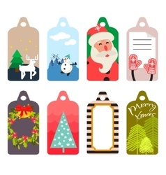 Christmas gift tag set vector image