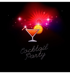Coctail party red vector