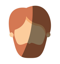 Color image shading front view faceless man with vector