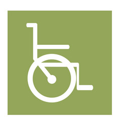 Color square frame with wheelchair icon vector