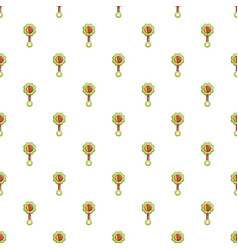 Colorful baby rattle pattern vector