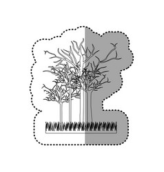 contour leafless trees icon vector image vector image