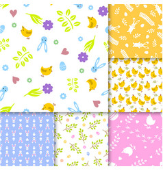 easter seamless pattern retro vintage design party vector image vector image