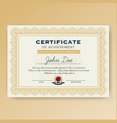 Elegant certificate of achievement vector