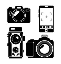 Evolution photographic camera design graphic vector
