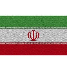 Flags iran on denim texture vector