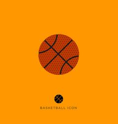 flat basketball game icon vector image