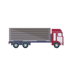 freight truck isolated icon in flat design vector image vector image