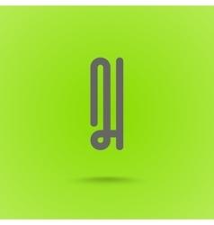Graphic Line Font Logo Element Letter I vector image