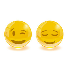 group of smiley emoticons emoji vector image