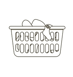 laundry basket vector image