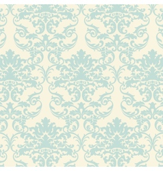 Loral damask baroque ornament pattern vector